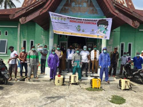 Antisipasi Penyebaran Covid-19, Baznas Meranti Terapkan Protokol Pencegahan di Desa Centai