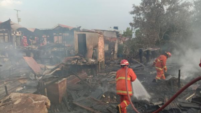 Kebakaran Terjadi di Dumai Kota, 6 Rumah dan 1 Masjid Ludes Terbakar