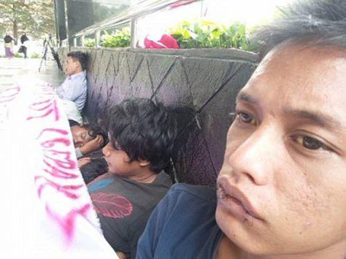 Jahit Mulut, 5 Mahasiswa Riau Siap Jadi Mayat di KPK