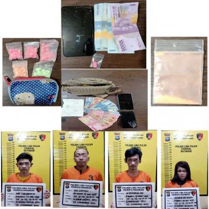 Polisi Tangkap IRT Bandar Narkoba dan Tiga Pengguna Narkoba di Parkiran Hiburan Malam Paragon