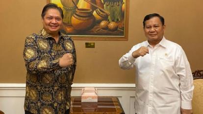 Setelah dengan Surya Paloh Kini Beredar Foto Airlangga - Prabowo, Gerindra Pastikan Bukan Pertemuan Khusus