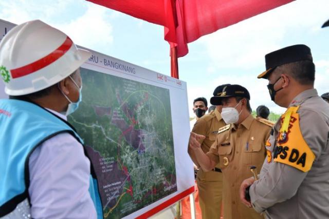 Gubernur Riau Tinjau Tol Pekanbaru-Bangkinang