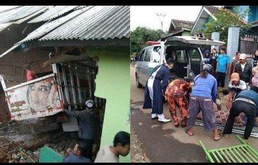 Truk Bermuatan Batu Bata Tabrak Madrasah Saat Santri Mengaji, 3 Tewas dan 8 Luka-luka