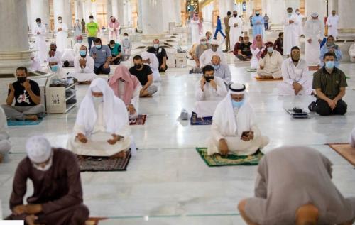 Hari Pertama Dibuka, 93.774 Jamaah Shalat di Masjid Nabawi