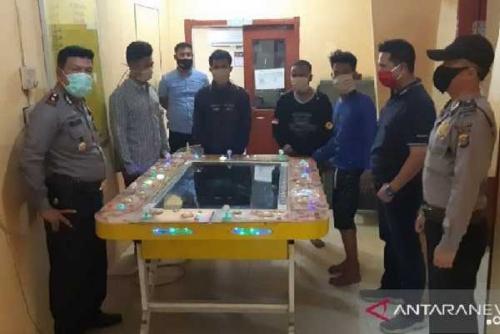 Polisi Bongkar Judi Tembak Ikan di Dumai, Empat Orang Ditangkap