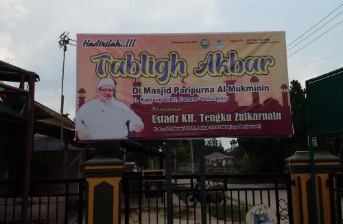 Ustaz Tengku Zulkarnain Tausyiah pada Tablig Akbar di Masjid Al-Mukminin Jalan Kutilang Sakti Panam Nanti Malam