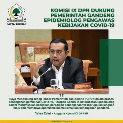 InfoGrafis: Komisi IX DPR Dukung Pemerintah Gandeng Epidemiolog Pengawas Kebijakan Covid-19