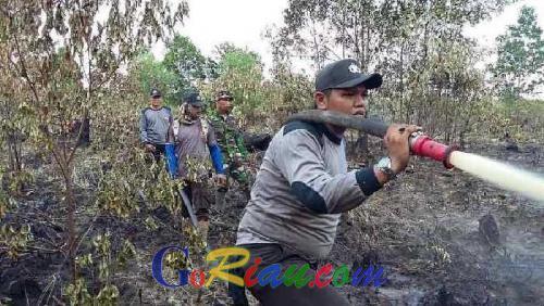 71 Hektare Lahan Masih Terbakar, Kapolres Dumai : Besok Kita Water Bombing