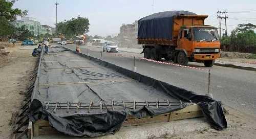 Beton di Jalan Lintas Cerenti-Inuman Patah, Kontraktor Diminta Bertanggungjawab