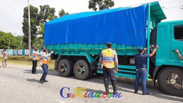 30 Unit Angkutan ODOL Terjaring Razia di Kuansing, Dua Masuk Kerangkeng