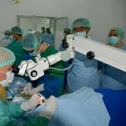 Diadakan Sido Muncul, Ratusan Pasien Ikuti Operasi Katarak dan Bibir Sumbing Gratis di Inhil