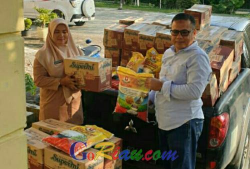 PT Musim Mas Bantu Sembako untuk Korban Bencana Banjir di Pelalawan, Ketua DPRD Apresiasi