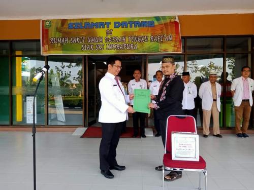 Sambil Berobat, Pasien Bisa Juga Isi Kotak Wakaf Rp1.000 per Hari di RSUD Tengku Rafian Siak