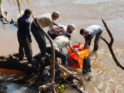 Bocah 10 Tahun yang Hanyut di Sungai Batang Lubuh Rohul Ditemukan Sudah tidak Bernyawa