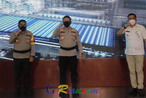 Kapolda Riau Launching Aplikasi BSR untuk Penanganan Covid-19 Lebih Optimal