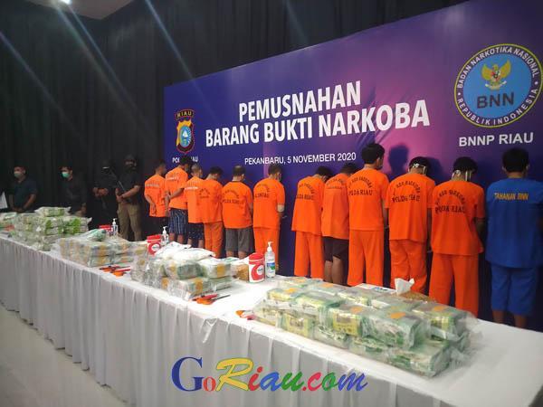Makin Masif, Hanya Satu Bulan, Lebih dari Satu Kuintal Sabu Diamankan Polisi di Riau