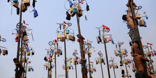 Warga Diimbau Tak Gelar Lomba Panjat Pinang Saat Perayaan 17 Agustus