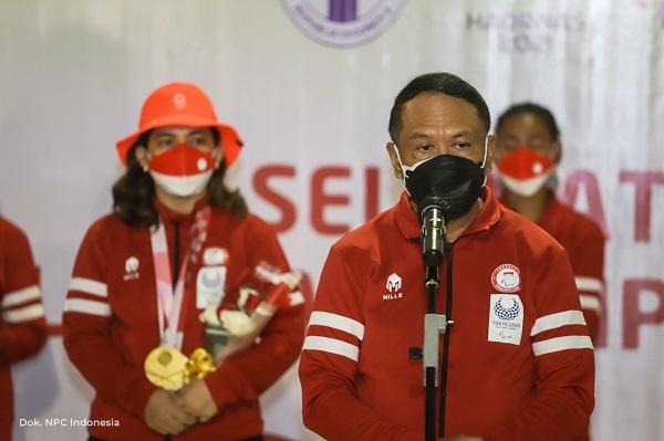Sambut Rombongan Terakhir, Menpora Amali: Posisi Atlet Paralimpiade dan Olimpiade Sejajar