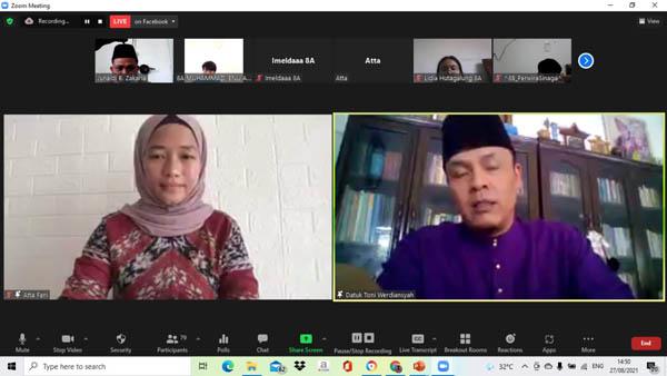 Puluhan Siswa SMP Global Andalan Belajar Tunjuk Ajar Melayu Riau