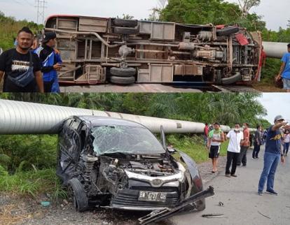 Tabrakan Bus Meranti dan Mobil Calya Terjadi di Buton, 12 Orang Luka-luka