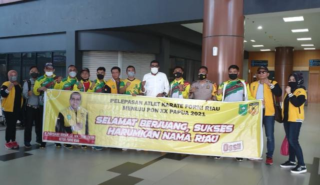 Lepas Atlet ke PON Papua, Forki Riau Siap Menang, Parisman: Mohon Doa dan Dukungan Masyarakat Riau