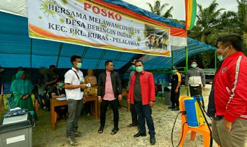 Ketua PDIP Riau dan Pengurus DPC Pantau Posko Covid-19 di Pelalawan, Live Streaming dengan Megawati