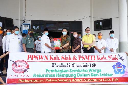 PSMTI - PPSWN Siak Lakukan Aksi Peduli untuk Masyarakat Terdampak Covid-19
