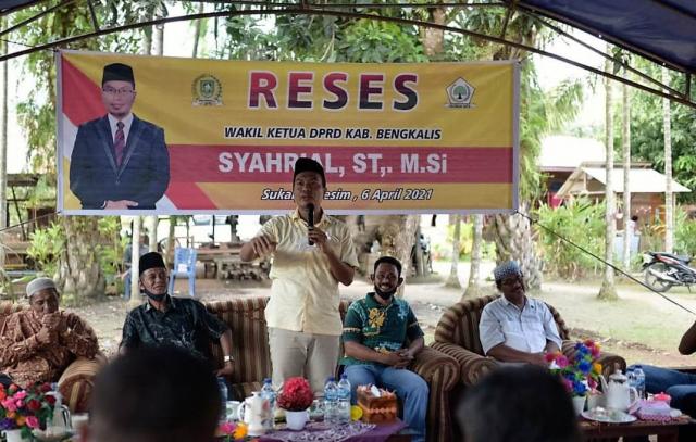Jemput Aspirasi, Syahrial Reses 8 Titik di Pulau Rupat