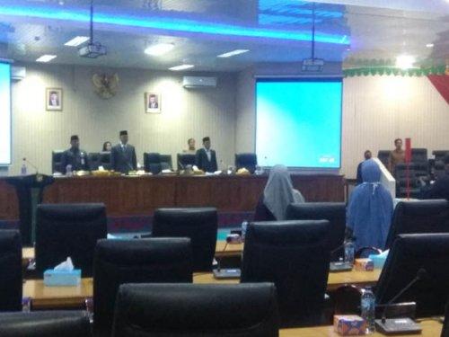 DPRD Kampar Gelar Rapat Paripurna Jawaban Pemerintah Atas Pandangan Fraksi di DPRD Terhadap RPP APBD Anggaran 2019