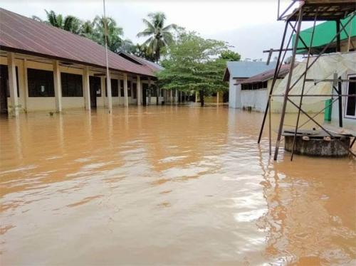 Akibat Banjir, Sejumlah Sekolah di Kuansing Tunda Ujian Semester