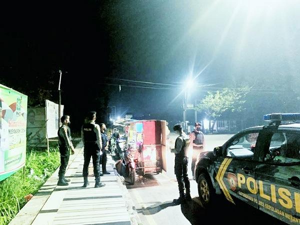 Polres Kepulauan Meranti Patroli di Titik Rawan Tindak Pidana dan Kerumunan