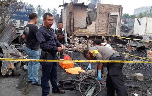 Polisi Amankan Satu Orang Pasca Kebakaran yang Tewaskan 2 Orang dan Hanguskan 13 Rumah di Rohil