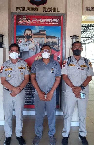 Gelar Musres, Ketua KBPP Riau Silaturahmi dengan Kapolres Rohil