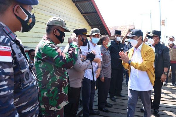 Polres Meranti Sebarkan Puluhan Personel ke Lokasi yang Dikunjungi Gubri