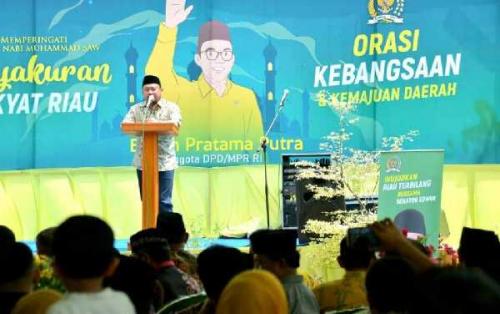 Hadiri Syukuran Rakyat Riau Atas terpilihnya Edwin Pratama Putra Sebagai Anggota DPD RI, Ini Harapan Bupati Kampar