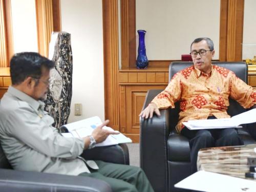 Ini Dua Gagasan yang Disampaikan Gubernur Syamsuar dengan Menteri Syahrul Yasin Limpo untuk Riau