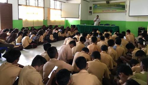Kenalkan Keunggulan, SMK Dirgantara Riau Sosialisasi ke SMP