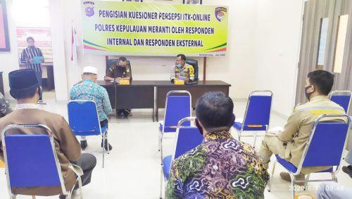 Nilai Kinerja, Polres Kepulauan Meranti Gelar ITK Online