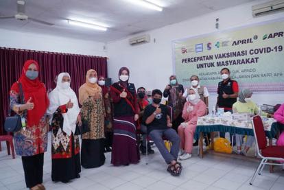Duta Vaksin Pelalawan Apresiasi Pelaksanaan Vaksinasi di PT RAPP dan PT APR