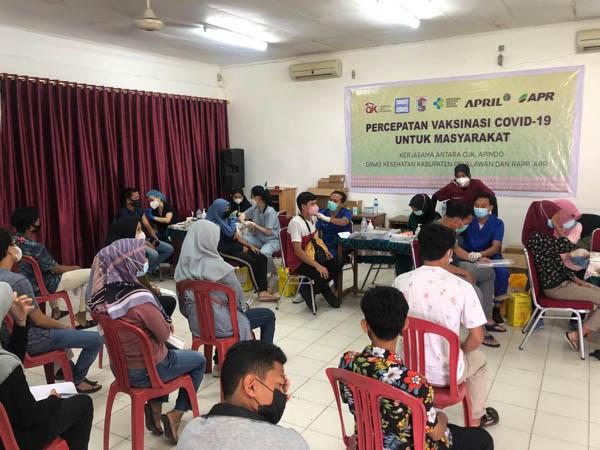 Vaksinasi Capai 98 Persen, Apindo-OJK Riau Kerjasama dengan RAPP Kejar Target Herd Immunity