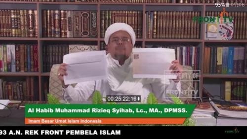 Habib Rizieq Perlihatkan Surat Pencekalan, Imigrasi Mengaku Belum Tahu