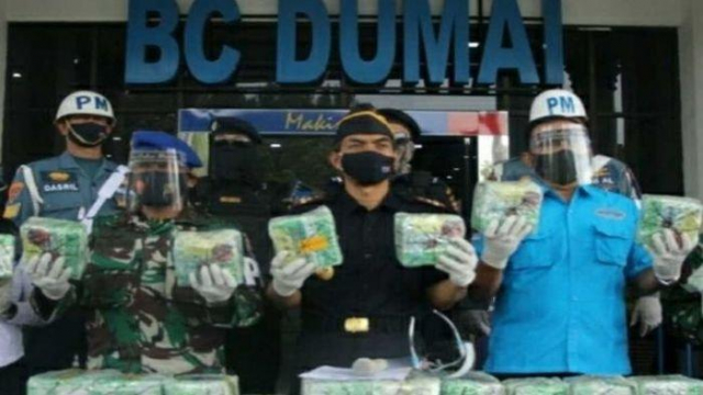 Pengiriman Sabu Senilai Rp100 Miliar dari Malaysia ke Dumai Digagalkan Bea Cukai, Ternyata Dikendalikan Ninja Narapidana Lapas Bengkalis