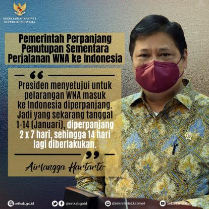 InfoGrafis: Pemerintah Perpanjang Penutupan Sementara Perjalanan WNA ke Indonesia