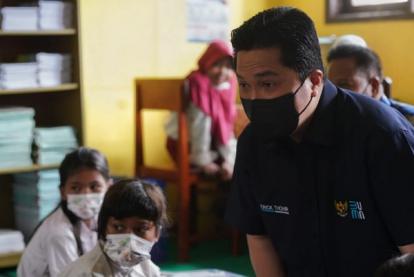 Menteri BUMN Erick Thohir Ajak Guru dan Murid Tetap Semangat Kejar Pendidikan Meski Pandemi
