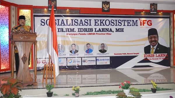 Gandeng IFG, Idris Laena Sapa UMKM Riau di Rengat