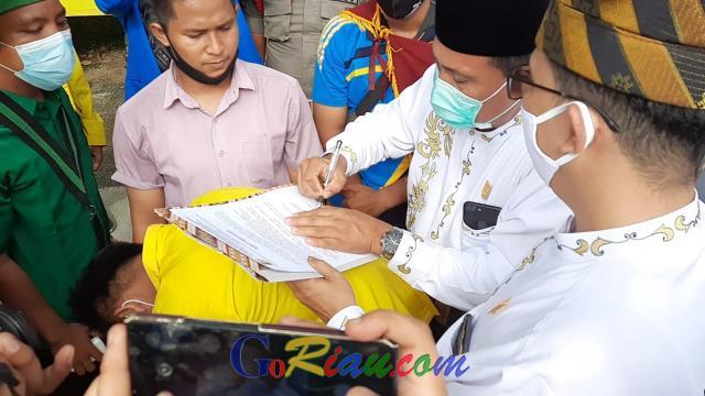 Didemo Mahasiswa Terkait UU Ciptaker, DPRD Kuansing Surati Presiden