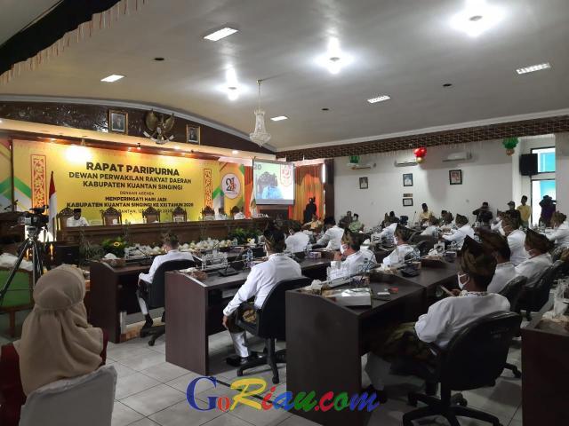 Dilaksanakan Sesuai Protokol Covid-19, Sidang Istimewa DPRD Kuansing Berjalan Lancar