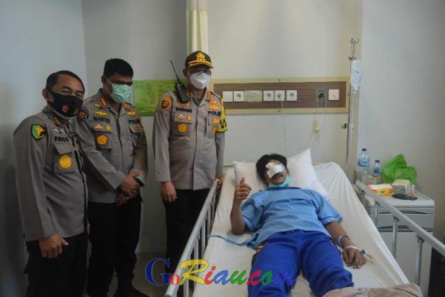 Sempat Dikabarkan Meninggal Dunia, Mahasiswa Riau yang Terluka Saat Demo Ini Dipastikan Sehat