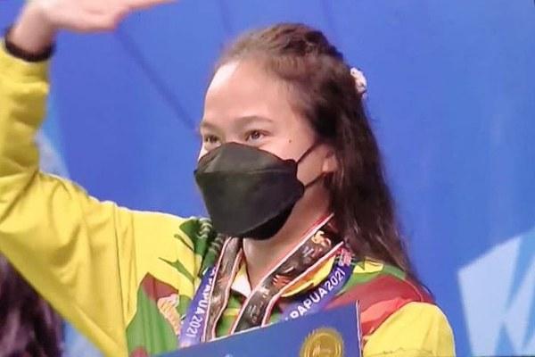 Vanessa Evato Boyong Medali Emas untuk Riau di Cabor Renang PON XX Papua