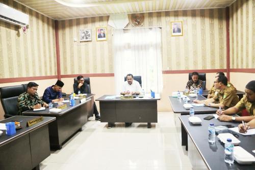Bahas Persoalan Desa, Komisi I DPRD Kepulauan Meranti Gelar Raker Bersama DPMD